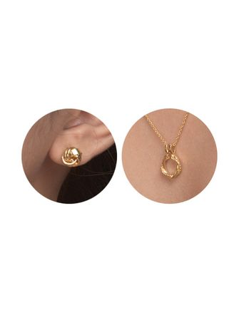 Gold color  . Marla Necklace & Earring Set -