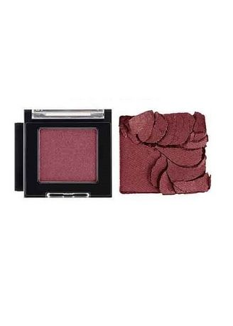 Red color Eyes . THE FACE SHOP Fmgt Monocube Eye Shadow - RD01 Midnight Burgundy -