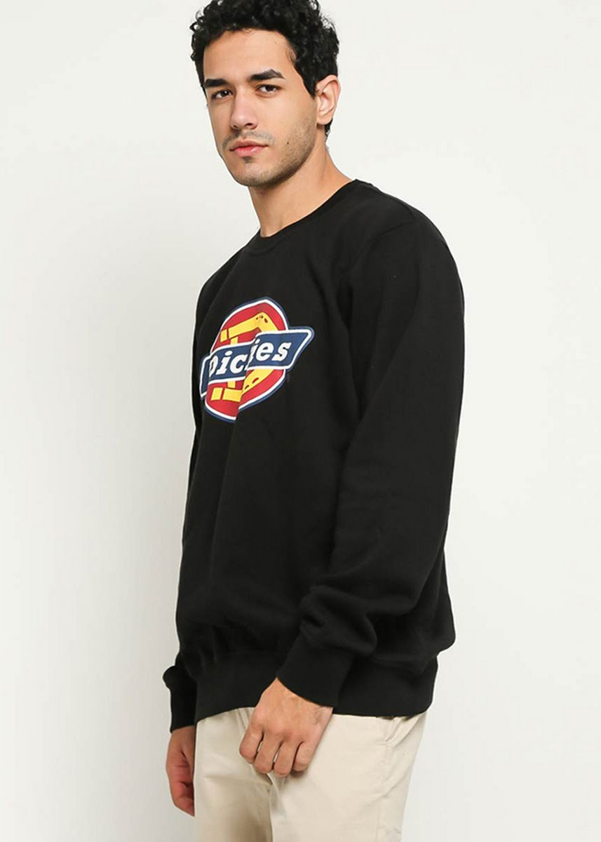 Hitam color Sweater . DICKIES-H.S CLASSIC CREW NECK SWEATER WH -