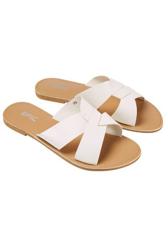 White color Sandals and Slippers . Thalia Women's Sandals -