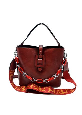 Red color Hand Bags . SCADA Adiora Handbag - Red LN-6150-14 -