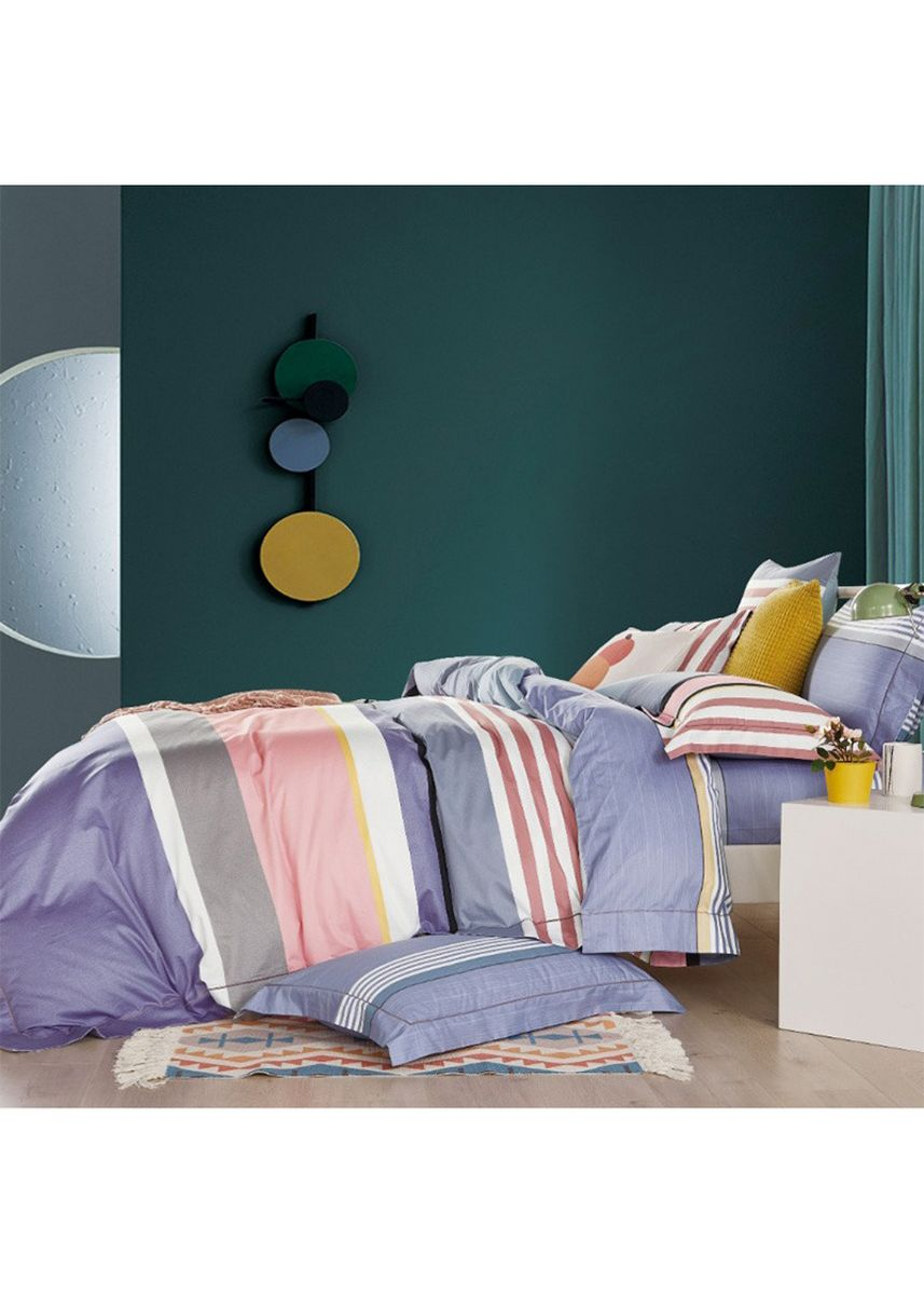 Multi color Kamar Tidur . Sleep Buddy Set Sprei Cool Line Cotton Sateen Single Size -