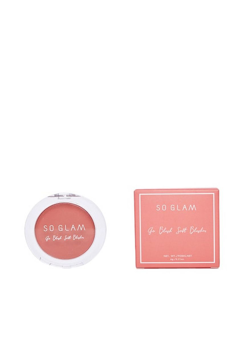 # 04 Raspberry Delight color Face . So Glam Go Blush Soft Blusher 6 g. -