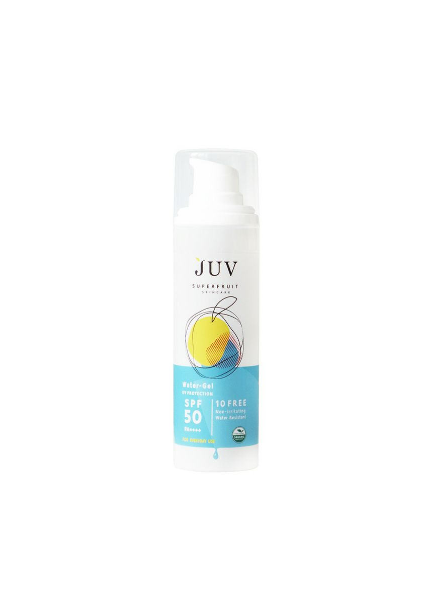 ไม่มีสี color กันแดด . JUV Water-Gel UV Protection SPF 50 PA+++ 30 ml. -