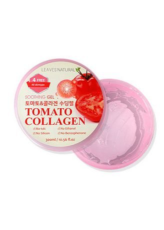No Color color Moisturizers . Leaves Natural Soothing Gel Tomato Collagen 300 ml. -
