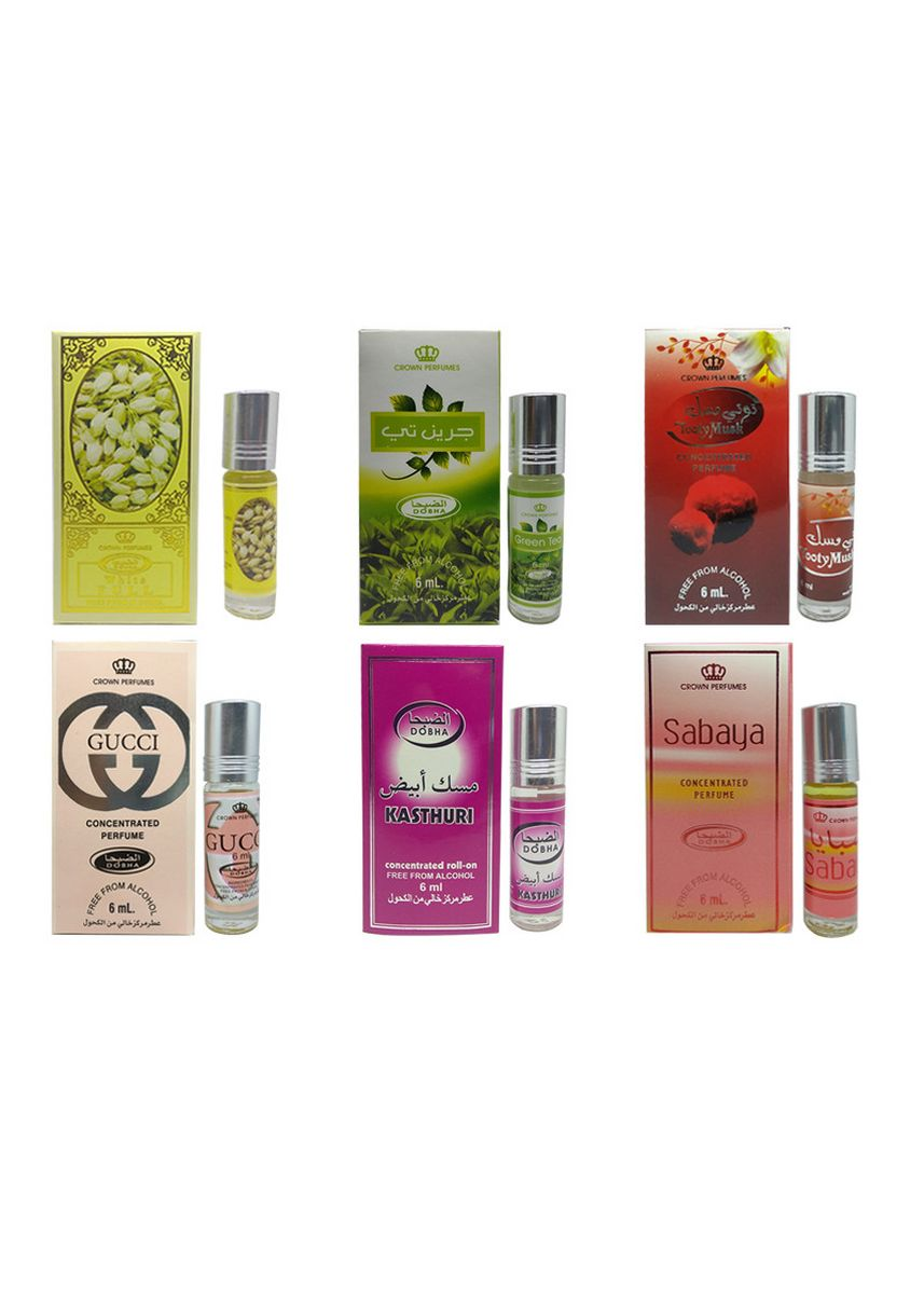 Multi color Parfum . PROMO 6Pcs Parfum BEST SELLER WANITA 6ml Dobha BPOM Original Roll On -