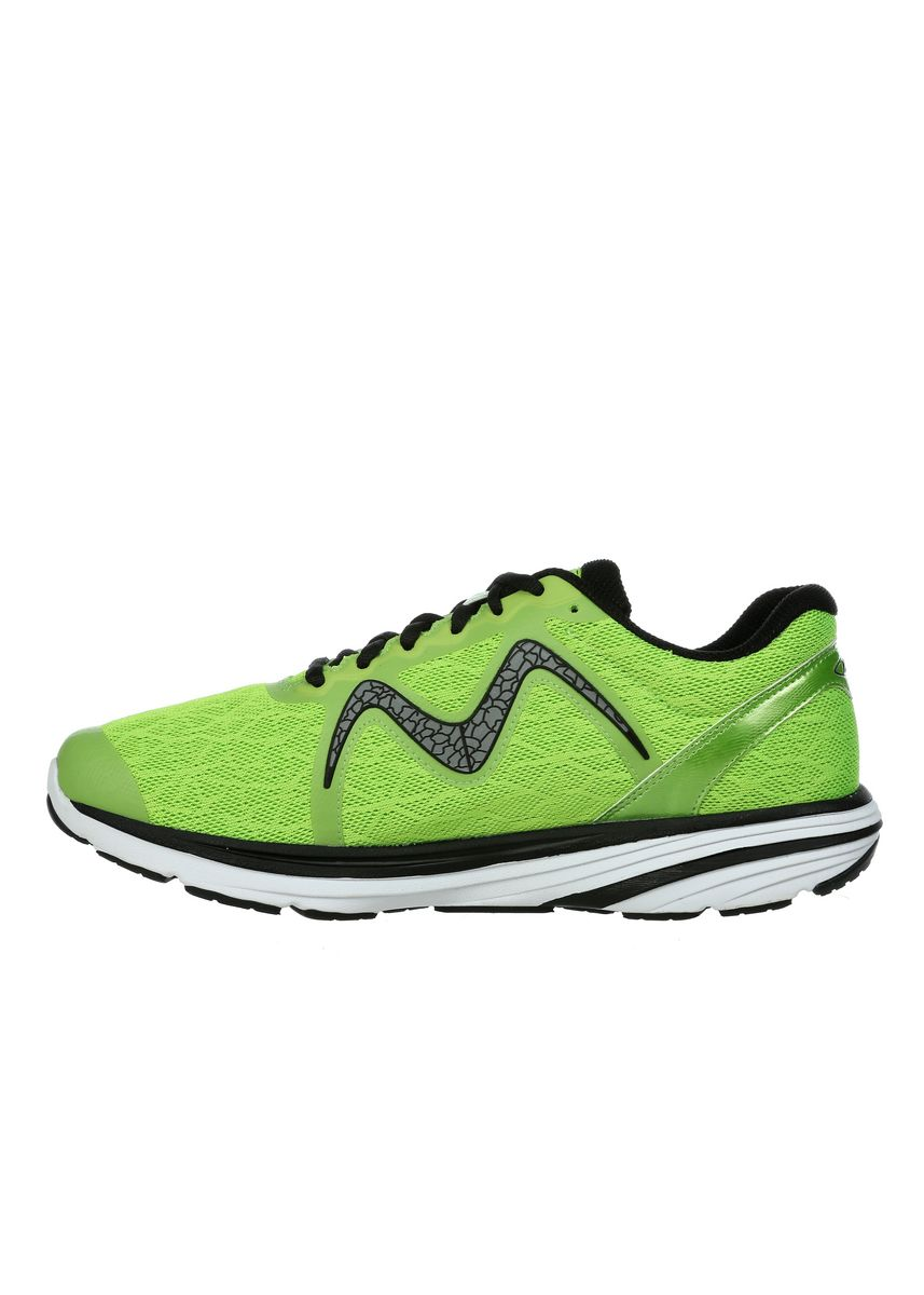 Lime Green color Sports Shoes . MBT SPEED 2 Men's Lace Up Running Shoe in Lime Green -