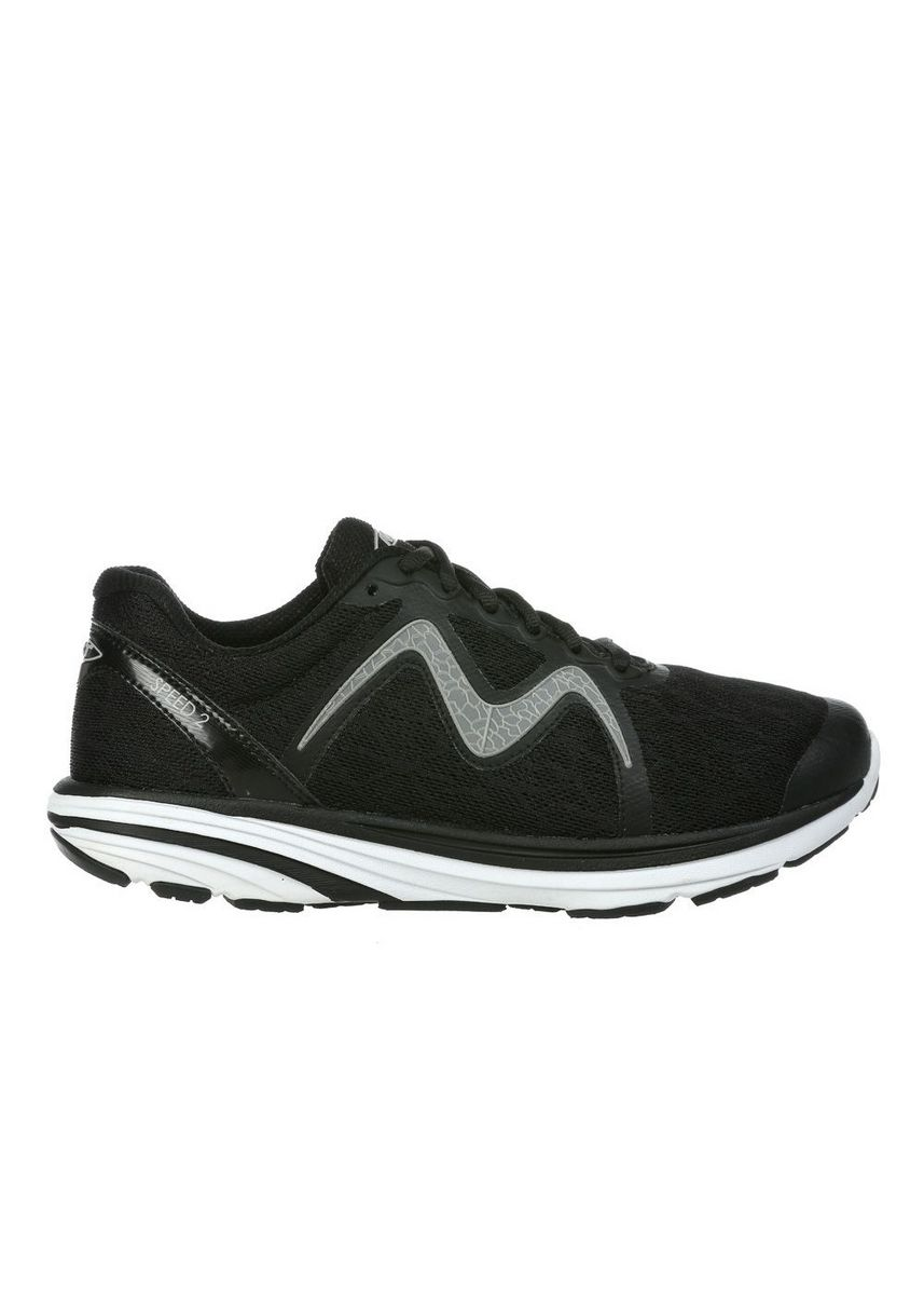 Black Grey color Sports Shoes . MBT SPEED 2 Men's Lace Up Running Shoe in Black Grey -