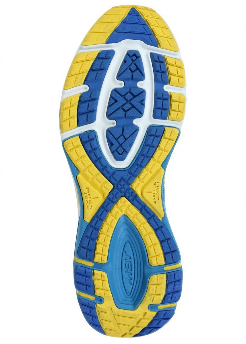 Blue Yellow color Sports Shoes . MBT GT 2 Men's Lace Up Running Shoe in Blue Yellow -