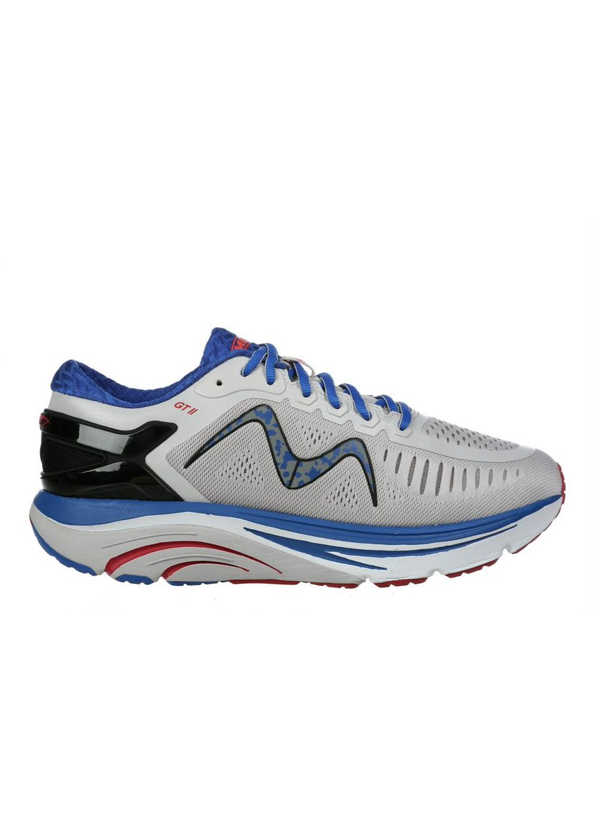 Grey Blue color Sports Shoes . MBT GT 2 Men's Lace Up Running Shoe in Grey Blue -