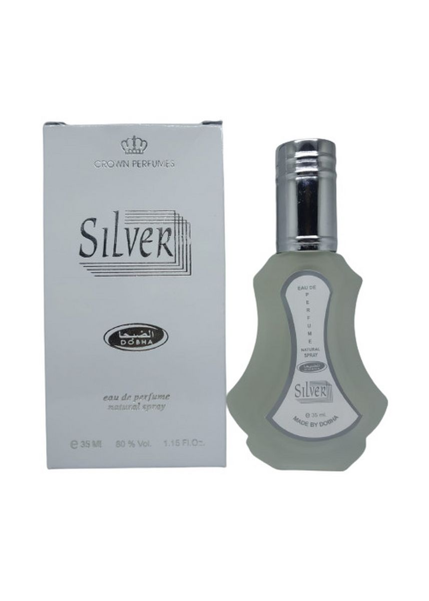 No Color color Fragrance . Parfum SILVER 35ml Dobha EDP Spray Original -