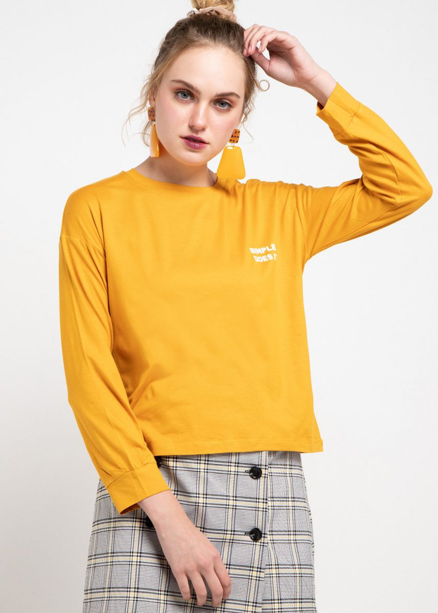 Mustard color Tops and Tunics . Third Day LTB59 LV Simple Does It Mu T-Shirt Mustard -
