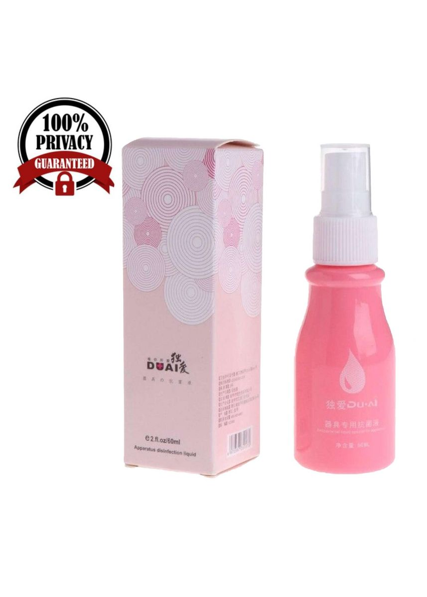 Pink color Sexual Care . Secret Corner 60ml DUAI Disinfectant Cleaning Spray Sex Toy Cleaner -
