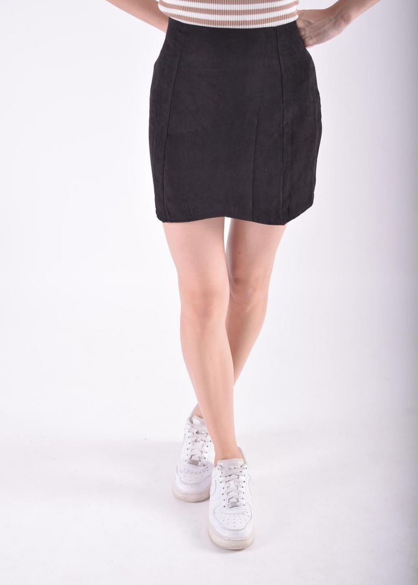 Black color Skirts . Izion Tulip Cut Skirt -