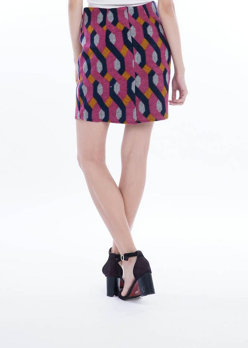 Multi color Skirts . Wintry Warm Skirts - Hexagon Twine -