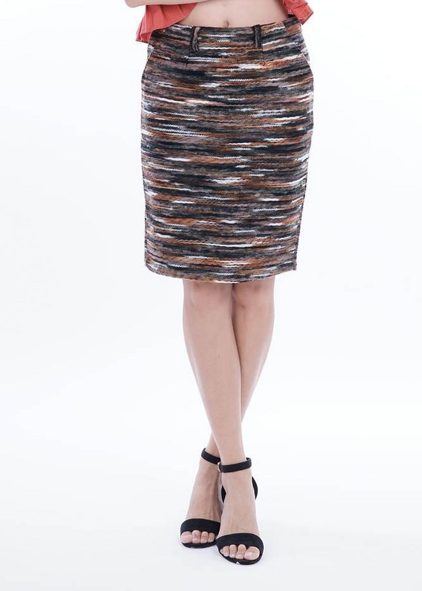 Multi color Skirts . Wintry Warm Skirts - Tiger Paintstrokes -