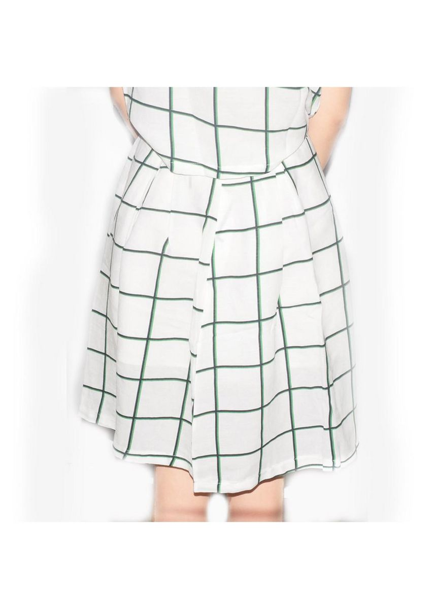 White color Skirts . Zhen Chinese Checkers Skirt -