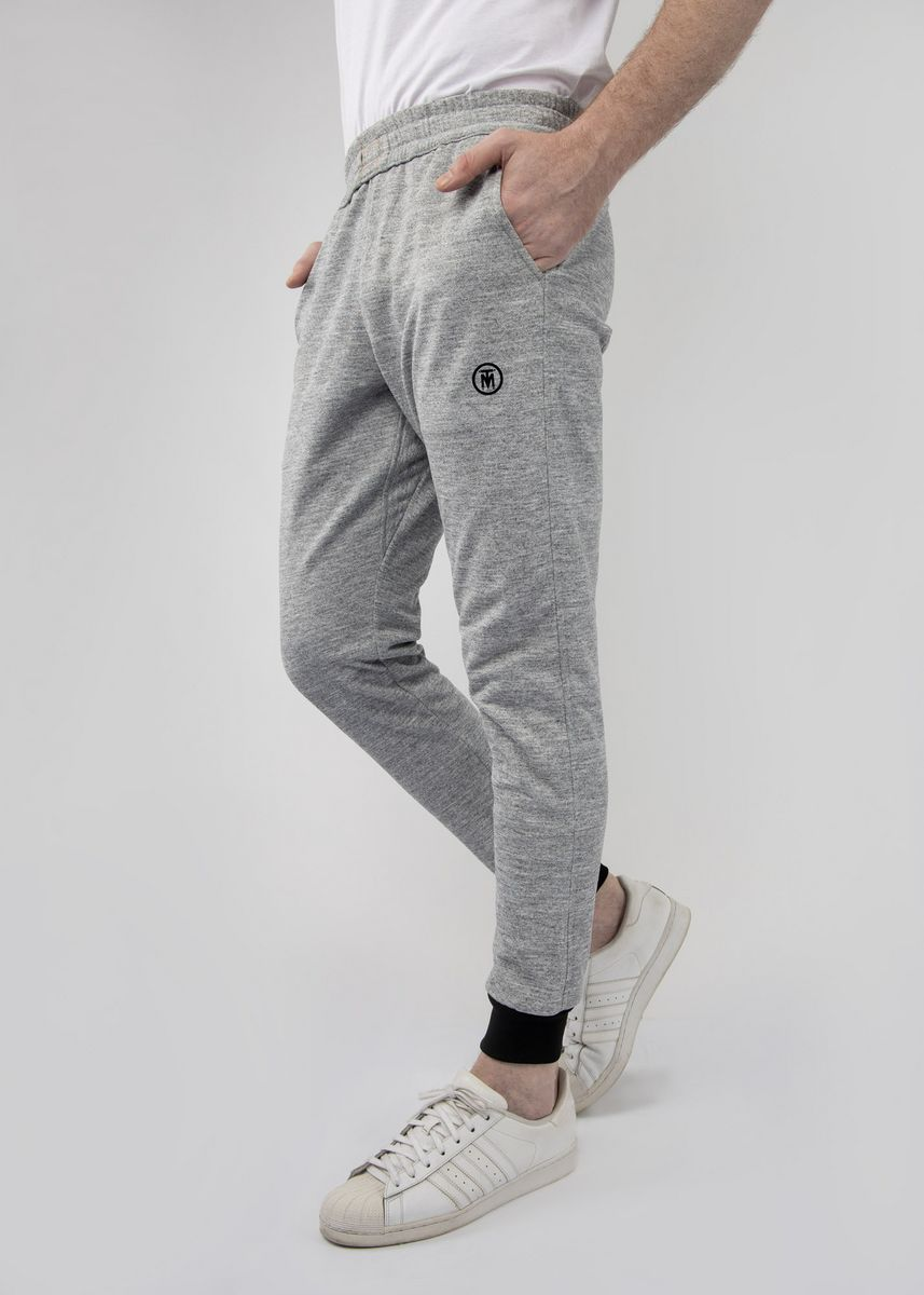 Light Grey color Casual Trousers and Chinos . TMAC™ Cement Sweatpants -
