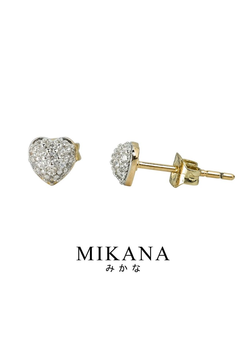 Gold color  . Mikana 18k Gold Plated Kichona Stud Earrings accessories for women -