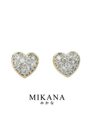 Gold color  . Mikana 18k Gold Plated Utsukushi Stud Earrings accessories for women -