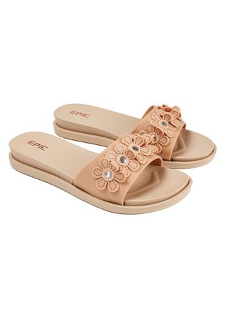 Beige color Sandals and Slippers . Sophisticated Women's Sandals -