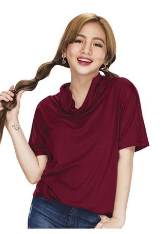 Maroon color Tops and Tunics . Stylish Women's Blouse -