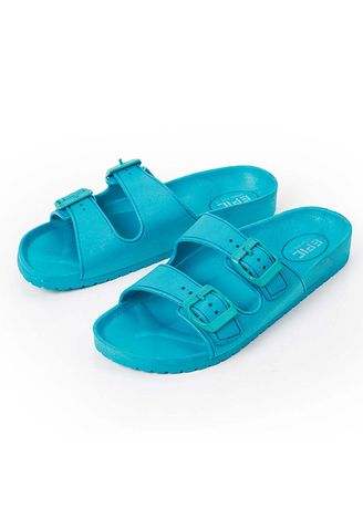 Cyan color Sandals and Slippers . Sheena Bluegreen Women's Slippers -