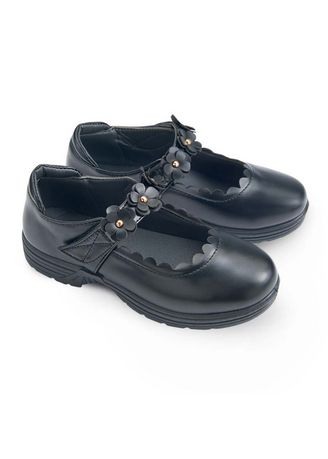 Black color Footwear . Peony Kid's Shoes for Girls -