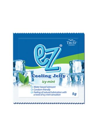 Blue color Sexual Care . EZ Lubricating Jelly Icy Mint (5g) -