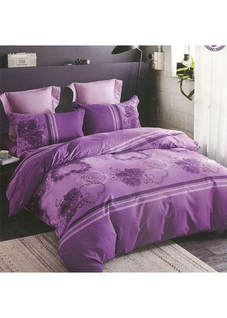 Violet color Bedroom . Osaka Set Sprei dan Bed Cover OSJ 50A Sateen Jepang Queen Size   -