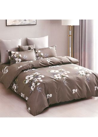Grey color Bedroom . Osaka Set Sprei dan Bed Cover OSJ 57A Sateen Jepang King Size -
