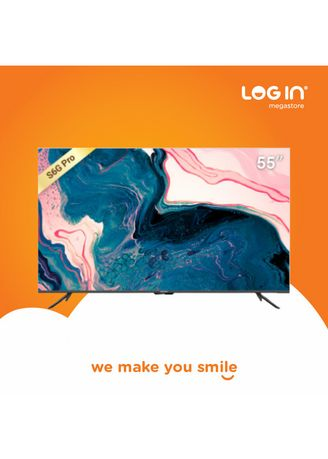 Hitam color Televisi . COOCAA LED TV SMART ANDROID 55 INCH 55CUC7500 -