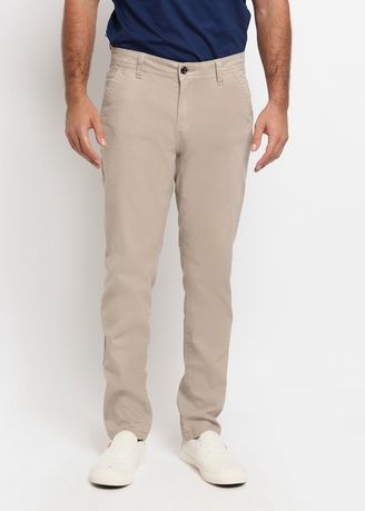 Beige color Casual Trousers and Chinos . POLICE Celana Chinos Slim Fit Pria -