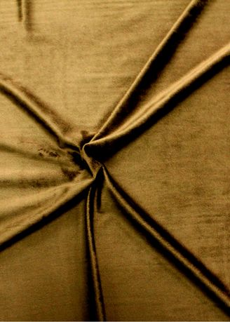 Brown color Polyester . Solid Dyed Poly Velboa Stretch -