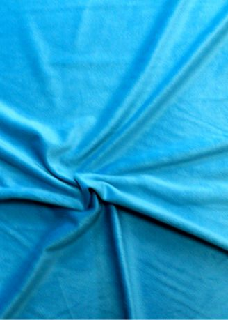 Light Blue color Polyester . Solid Dyed Poly Velboa Stretch -