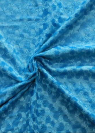 Blue color Polyester . Poly Velboa Embossed -