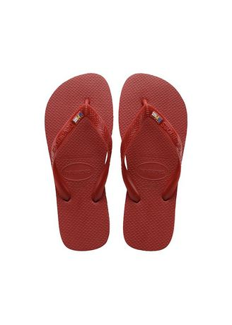 Red color Sandals and Slippers . Havaianas Unisex Top Filipinas Logo Flip-Flops -