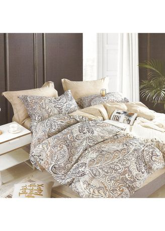 Multi color Bedroom . Osaka Set Sprei Patterned Sateen Jepang Queen Size -