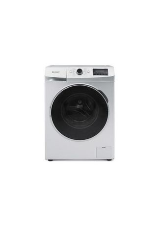 White color Washing Machines . SHARP - FRONT LOAD WASHING MACHINE ESFL1073W -