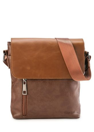 Messenger Bags . Urban State - Distressed Leather Zip Courier Crossbody Bag -