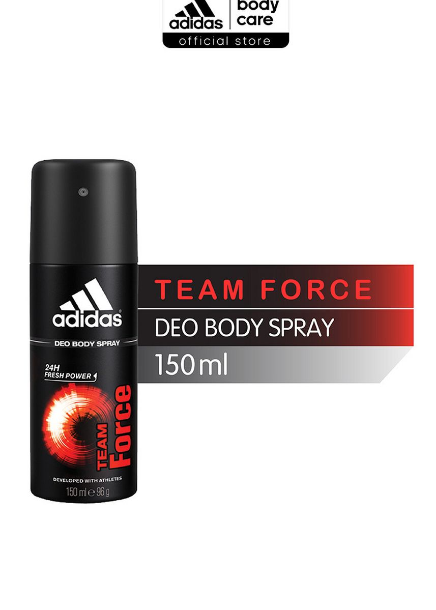 Merah color Parfum . ADIDAS Team Force Deo Body Spray 150ml -