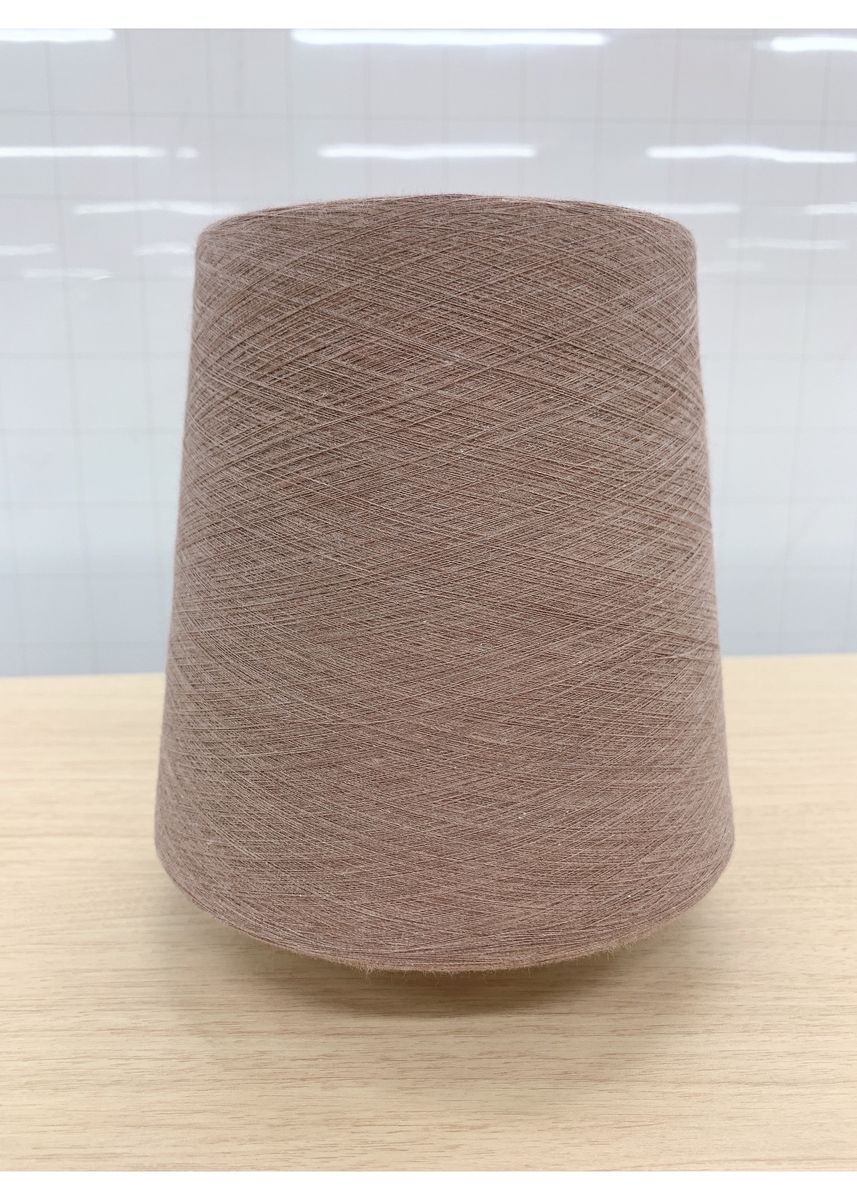 COFFEE QUARTER color  . FOOD TEXTILE TOP DYED YARN 30/1 (Color Shade: Quarter) -