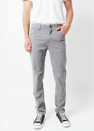Grey color Casual Trousers and Chinos . Greenlight Men Pants 230121 -