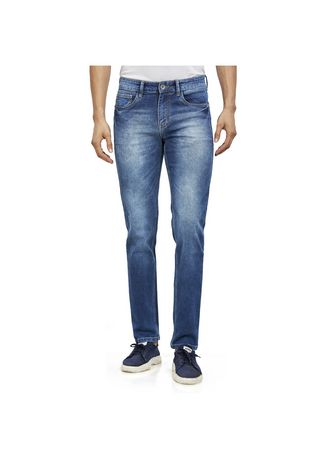 Blue color Jeans . ROXTON - MID-Rise Tapered Jeans 2 -