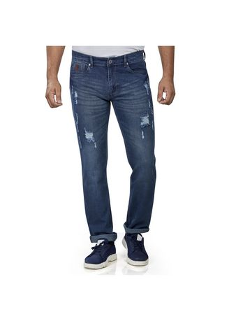 Navy color Jeans . ROXTON - MID-Rise Tapered Jeans 7 -