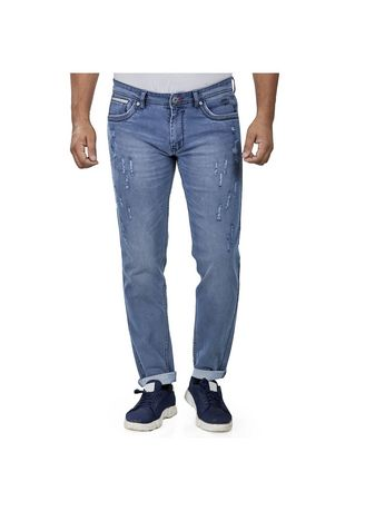 Blue color Jeans . ROXTON - MID-Rise Tapered Jeans 8 -