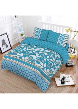 Multi color Bedroom . Bedcover Vito Disperse Plat King 180x200 Blue Lagoon -