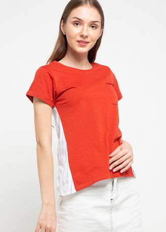 Orange color Tops and Tunics . X8 Camille Tops -