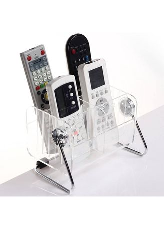 White color Mobile Holder . Transparent Acrylic Remote Controller Storage Box Cosmetic Organizer AS552 -