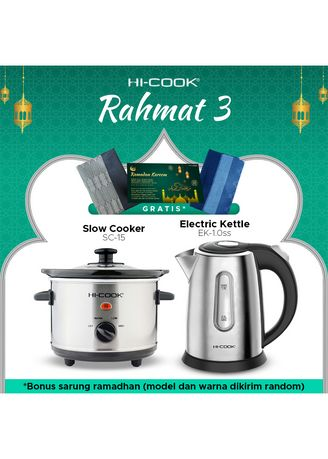 Tidak Berwarna color Rice Cooker . Paket Ramadan Hi-Cook Slow Cooker SC-15 dan Electric Kettle EK-1.0SS FREE Sarung - Rahmat 3 -